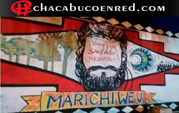 taparon el mural de santiago maldonado