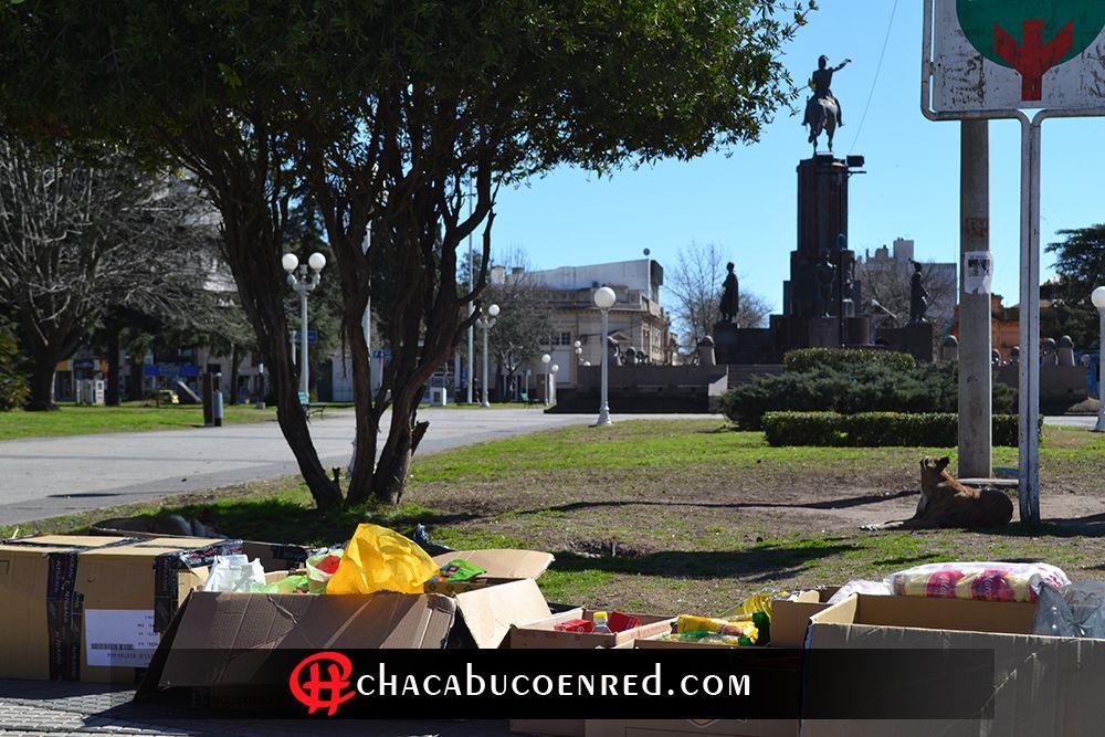 colecta en plaza san martin chacabuco