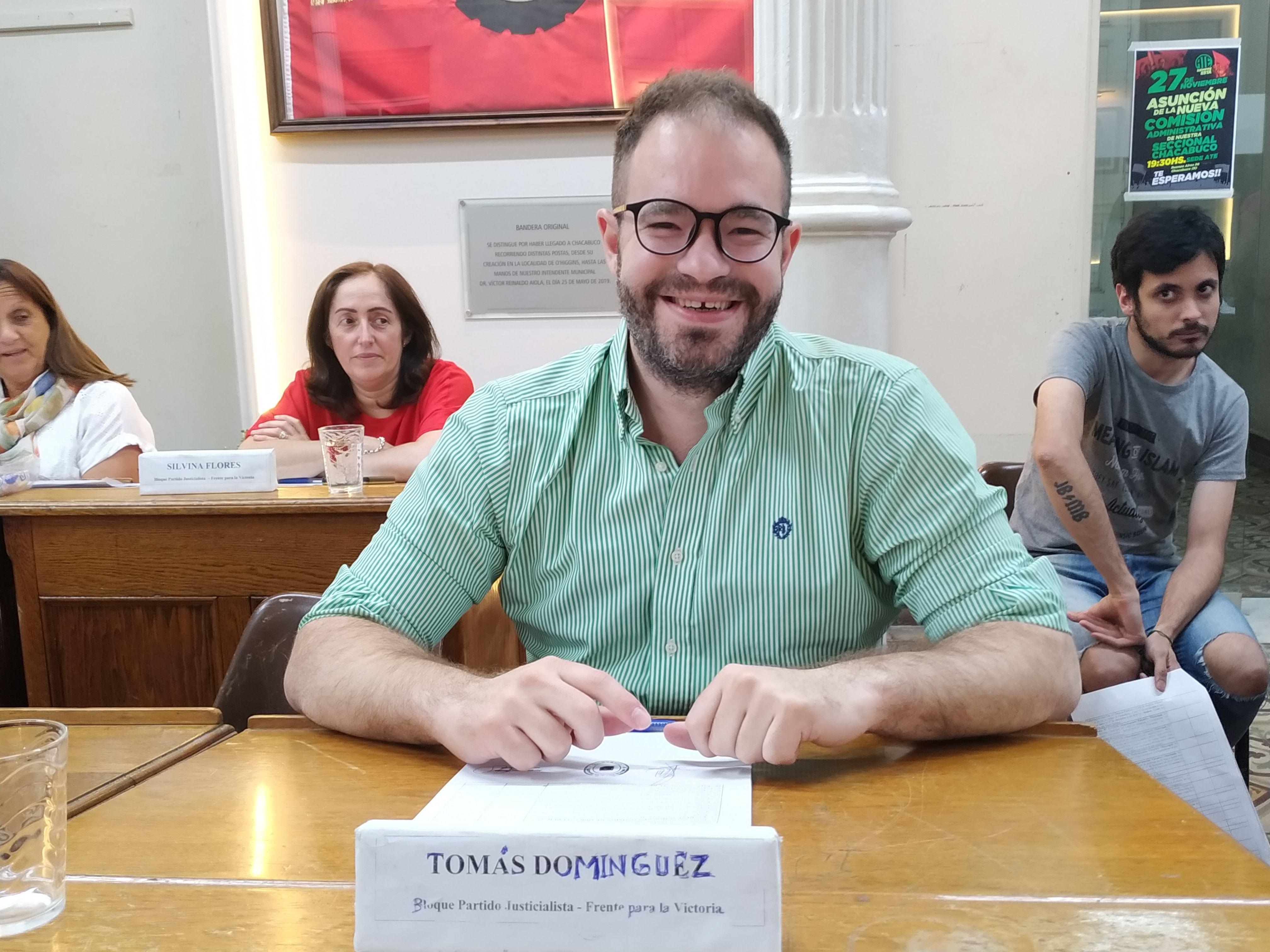 Tomás Domínguez se despidió del Concejo Deliberante