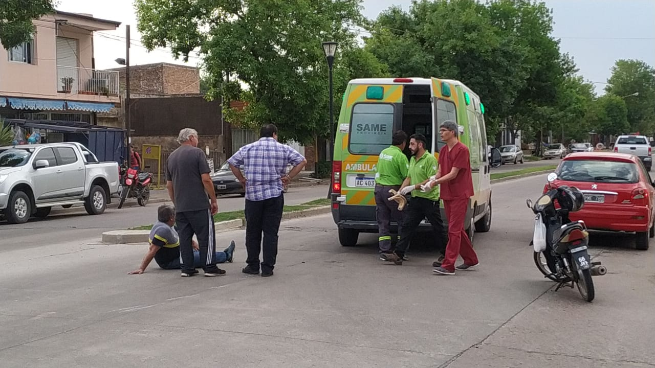 Accidente en Arenales y 9 de Julio