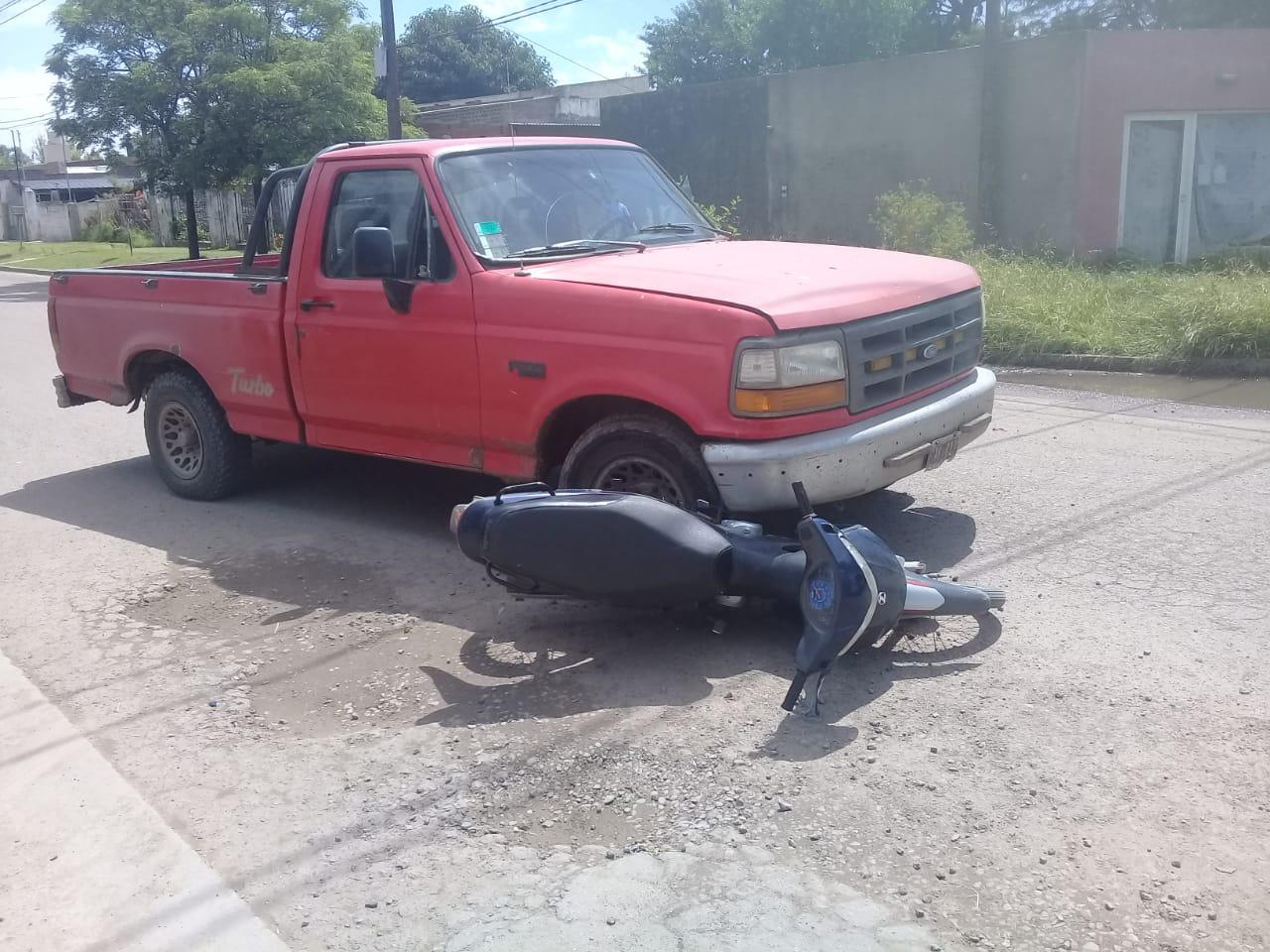 Un motociclista trasladado al Hospital